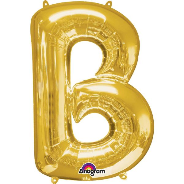 SuperShape Letter B - Gold